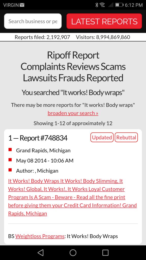It Works - ripoff Report