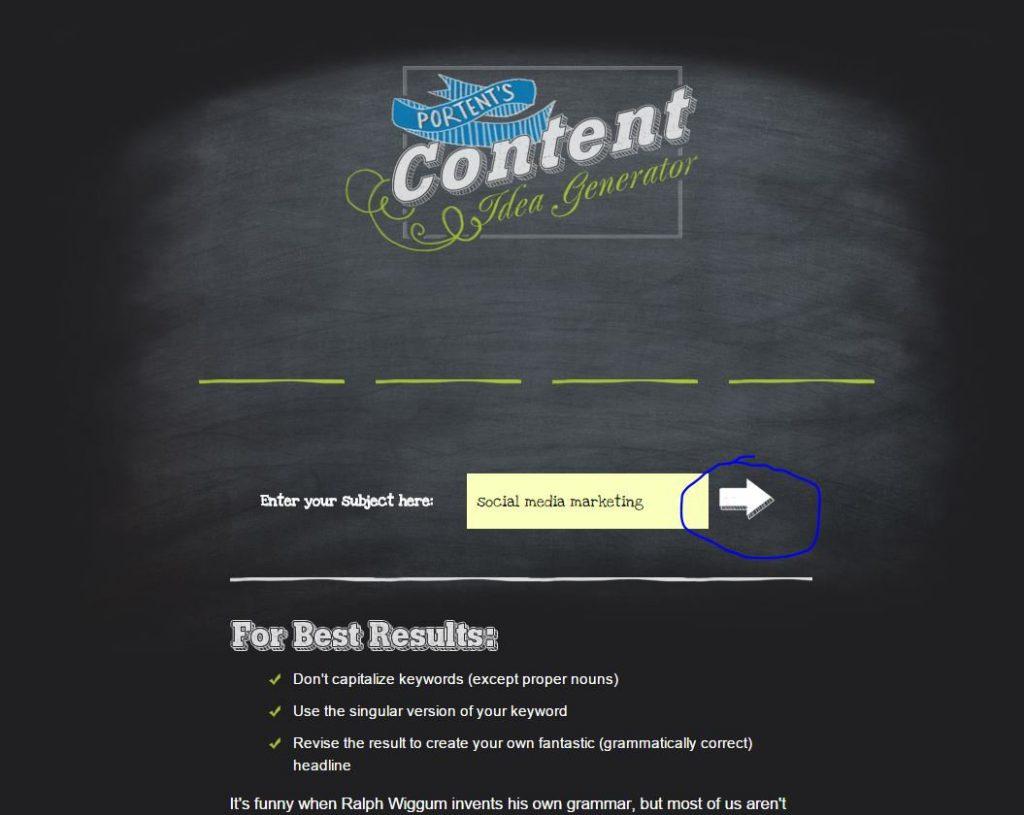 content - Free Content Idea Generator