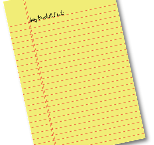 bucket list - write an ebook