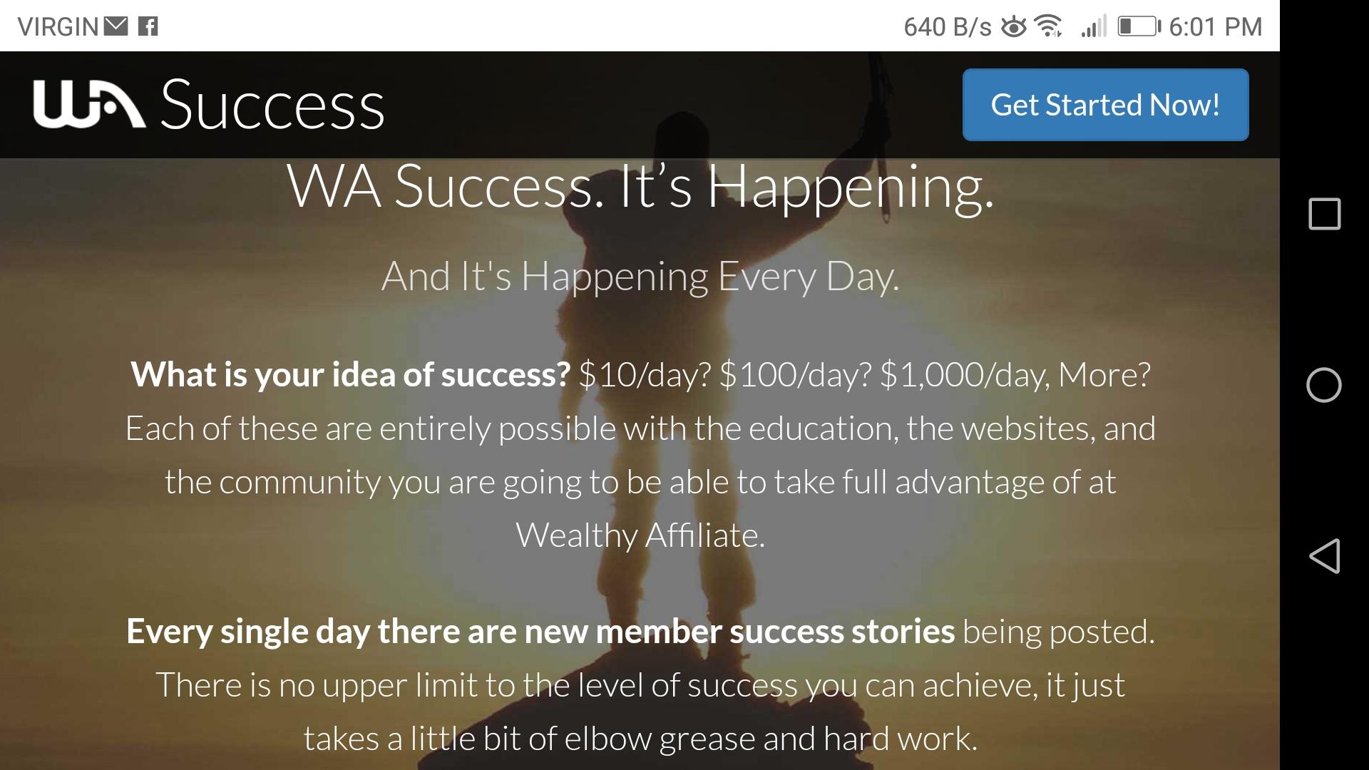 Wealthy Associate - Success online