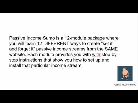 Passive Income Sumo - 12 different Ways to earn