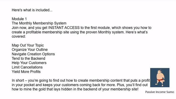 Passive Income Sumo - Create membership site